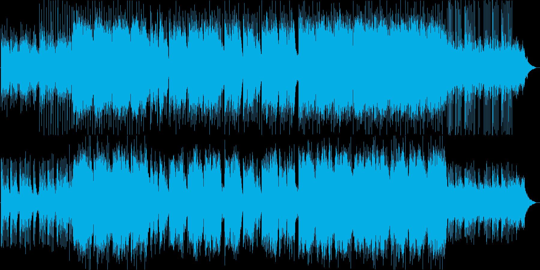 叙情的な尺八が特徴的な和のBGMの再生済みの波形