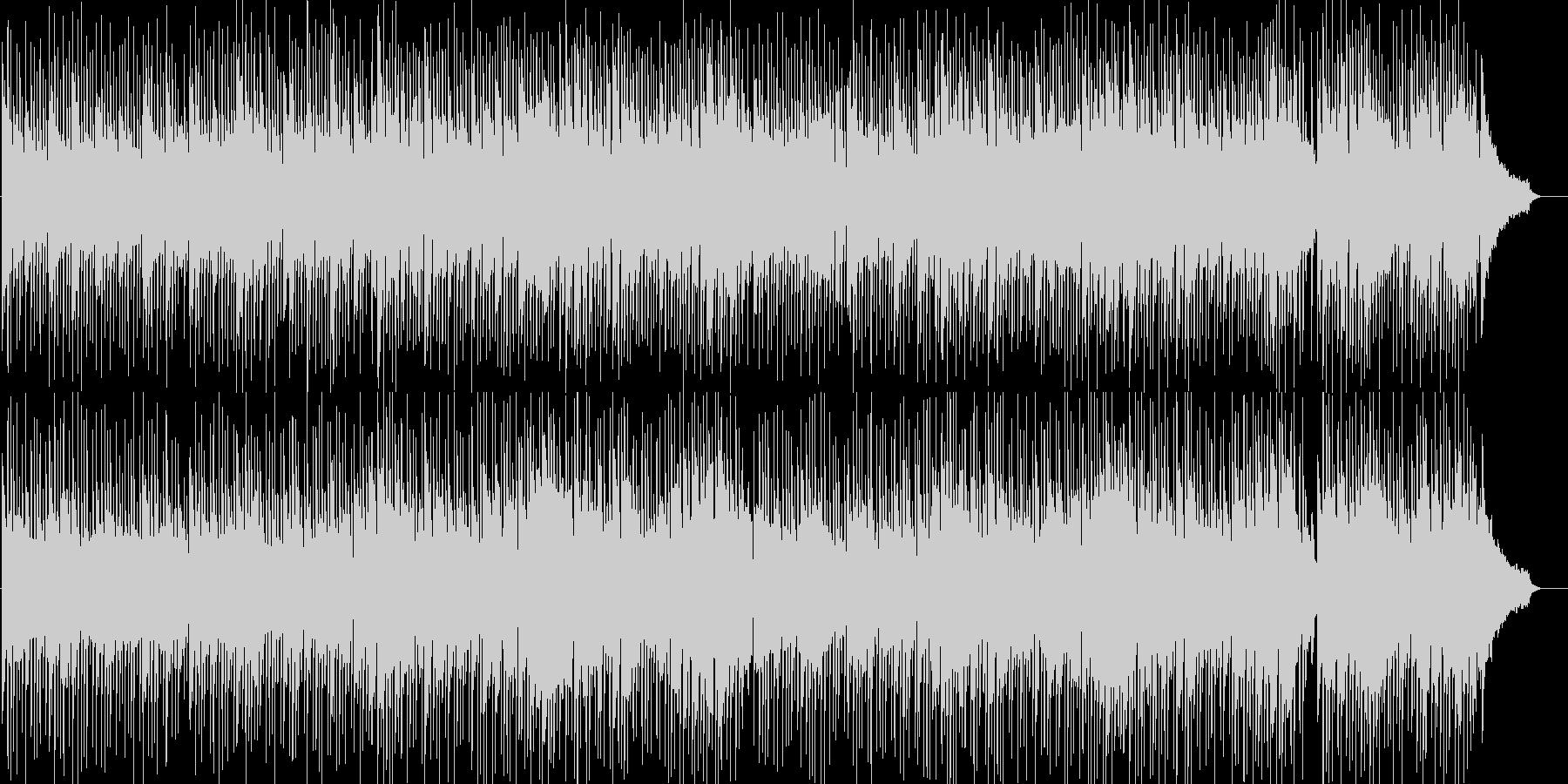 爽やかでゆったりとしたボサノバ風BGMの未再生の波形