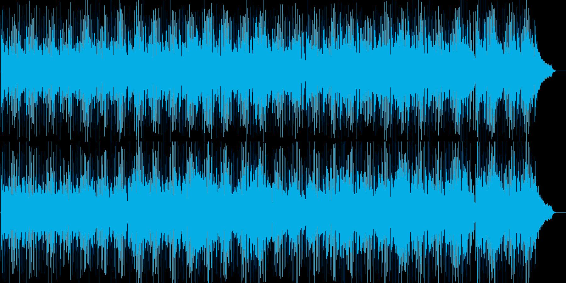 爽やかでゆったりとしたボサノバ風BGMの再生済みの波形