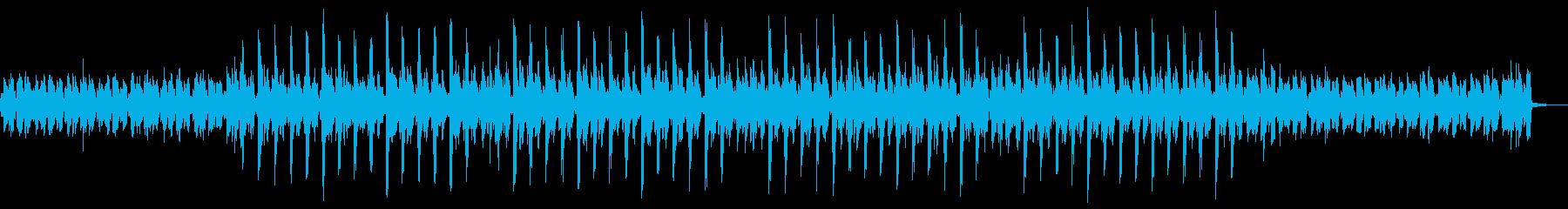 ピコピコ音でメロディが繰り返されるテクノの再生済みの波形
