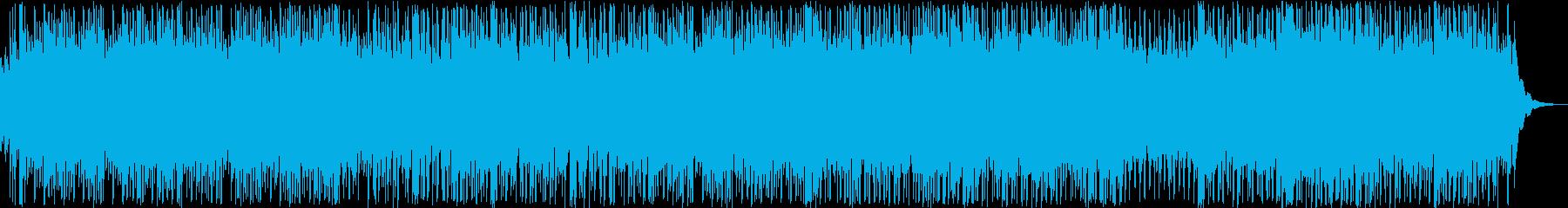 ノリのいい和風の琴と笛の再生済みの波形