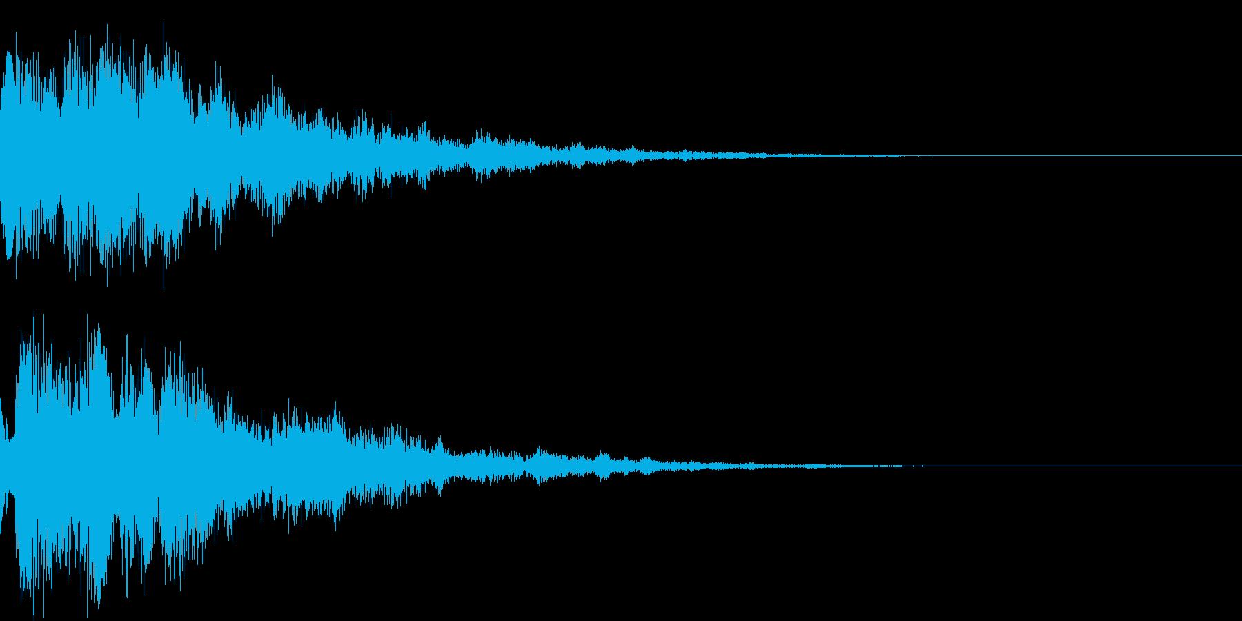 システム音36_Jの再生済みの波形