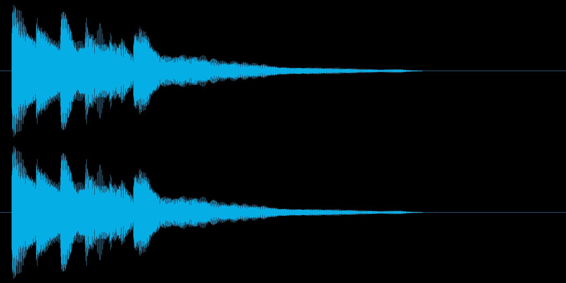 抜けの良いピアノによるワンフレーズの再生済みの波形