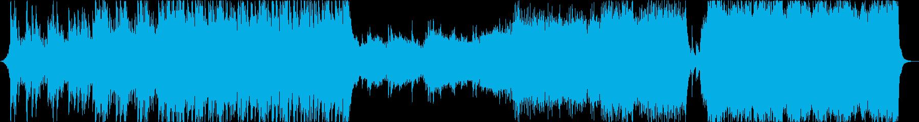 SF映画の予告をイメージしたサウンドの再生済みの波形
