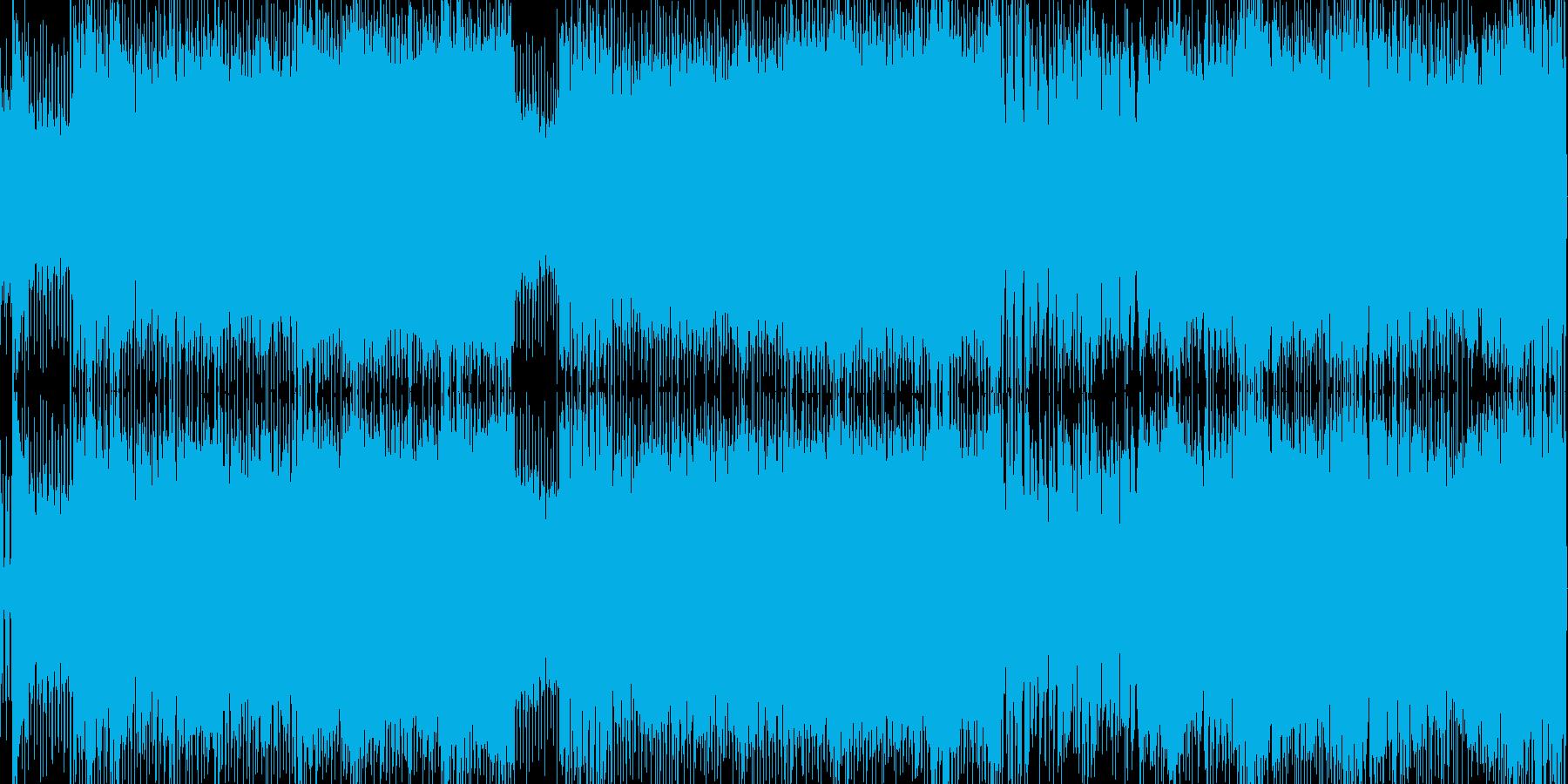ロックハードでゲーム系BGMループの再生済みの波形