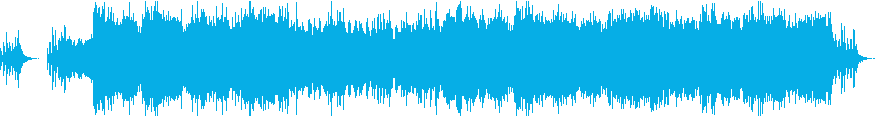 ピアノの主題を軸にした壮大なオーケストラの再生済みの波形