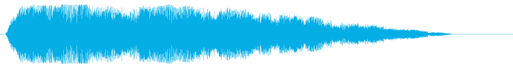 ショートジングル風の再生済みの波形