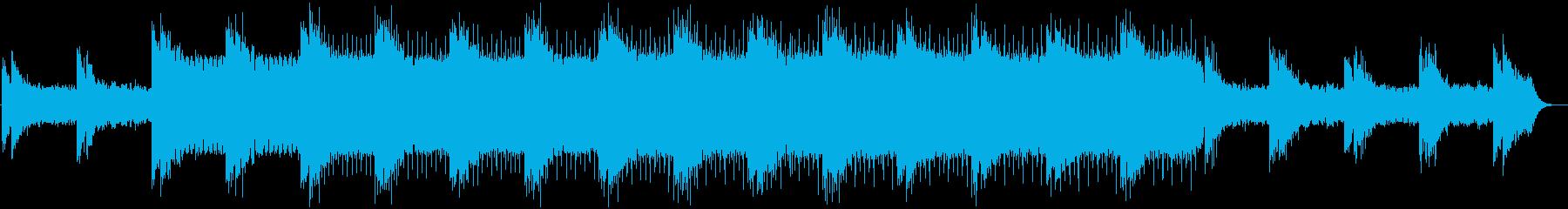 シンセ音が怪しい雰囲気を演出するBGMの再生済みの波形