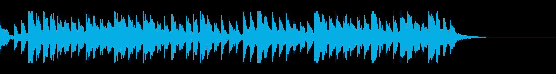 シンスウェーブなシンキングタイム音の再生済みの波形