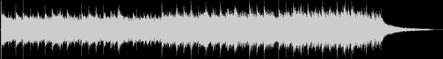 サスペンス ガムランとドラムの未再生の波形