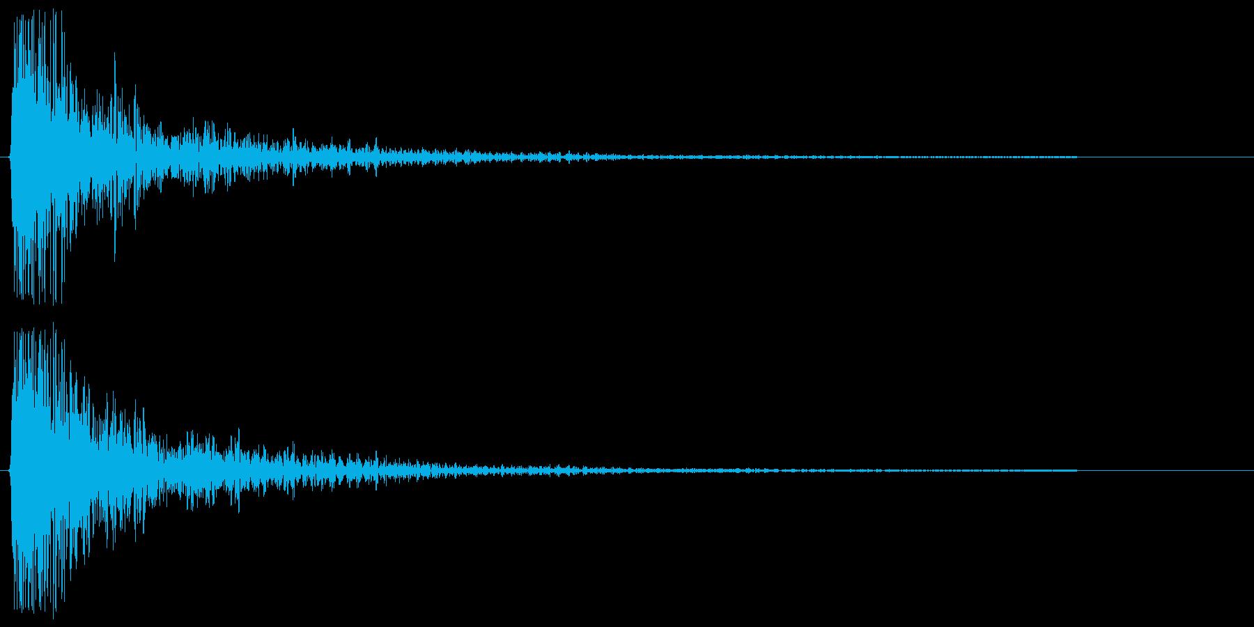 ドゥン。衝突・転ぶ・尻餅の音(シンプル)の再生済みの波形