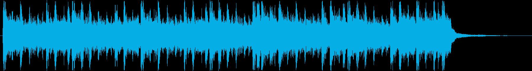 緊迫した状況のギターロックの再生済みの波形