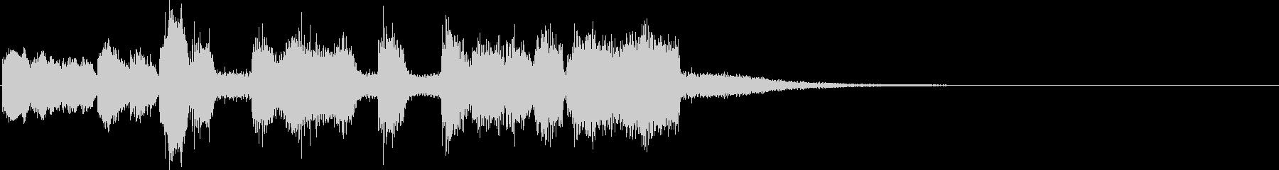 シンセブラスの軽快なファンファーレの未再生の波形