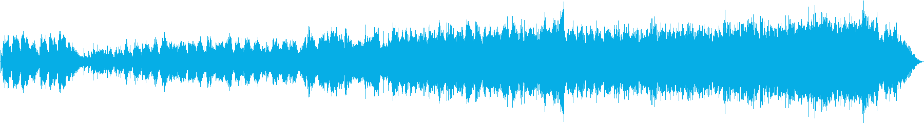 澄み切った青空を眺めてピアノメロディーの再生済みの波形