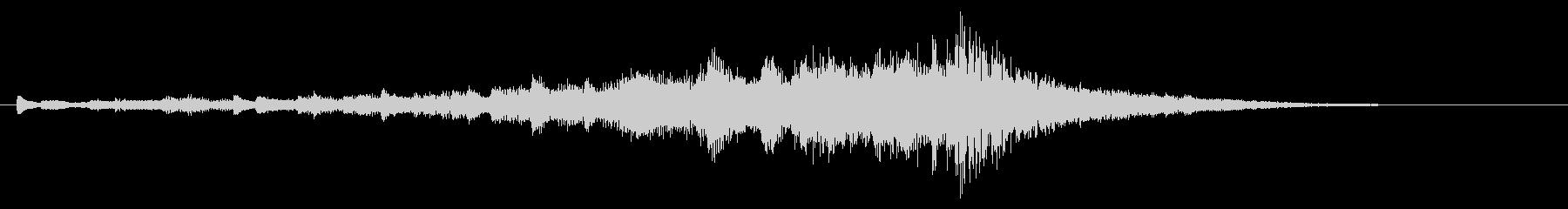 重めのサウンドロゴの未再生の波形
