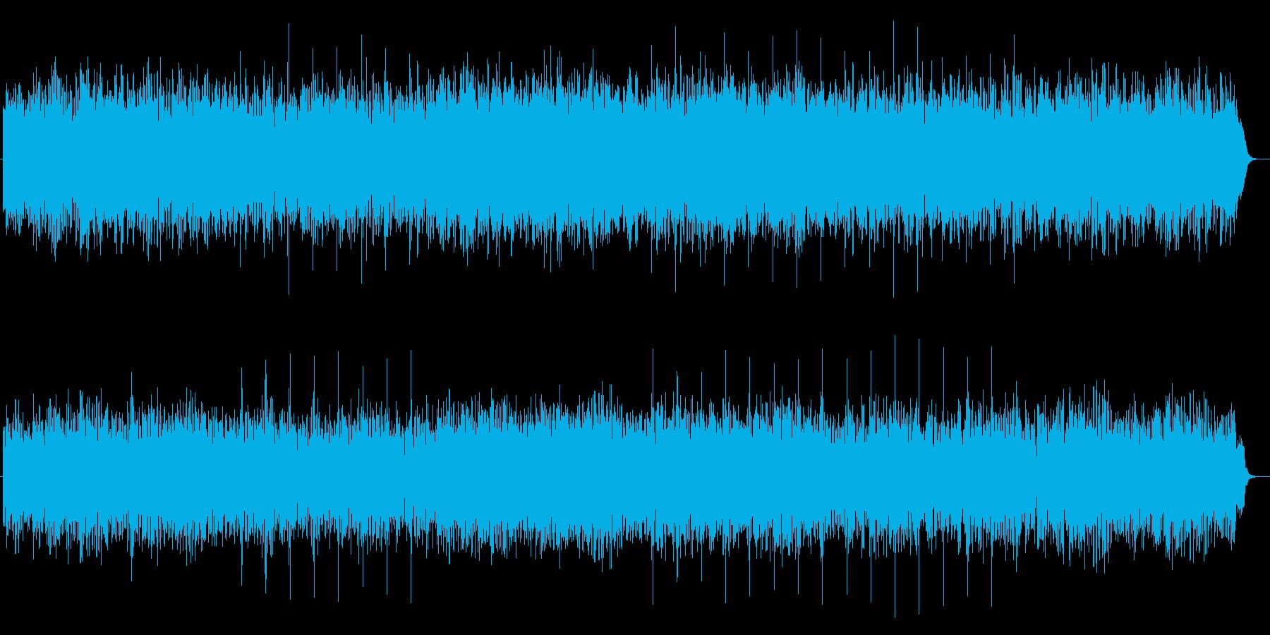 明るくやる気のでるストリングのあるBGMの再生済みの波形