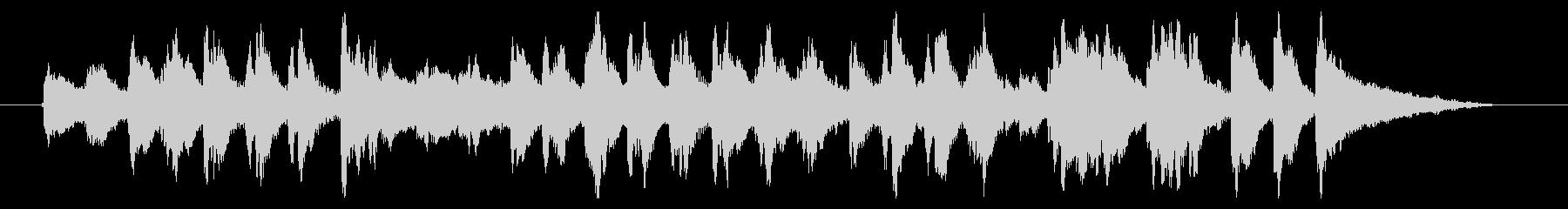 マリンバのキャッチーなジングルの未再生の波形