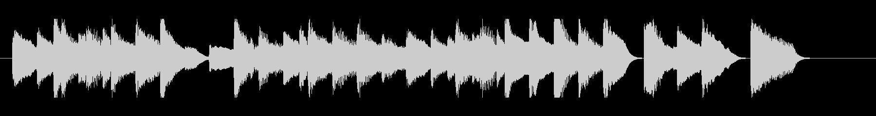 ピアノ 短い ジングル の未再生の波形