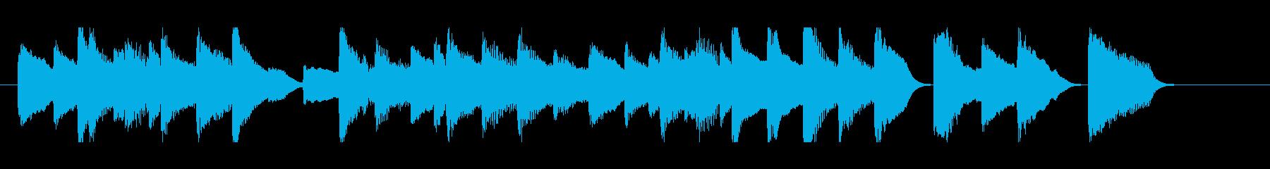 ピアノ 短い ジングル の再生済みの波形
