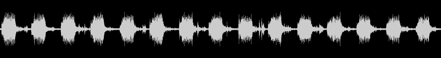 洗濯機で洗っている時の音 ループの未再生の波形