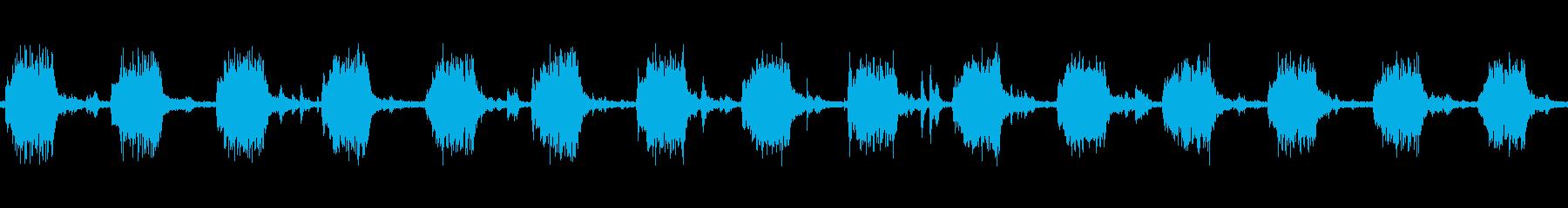 洗濯機で洗っている時の音 ループの再生済みの波形