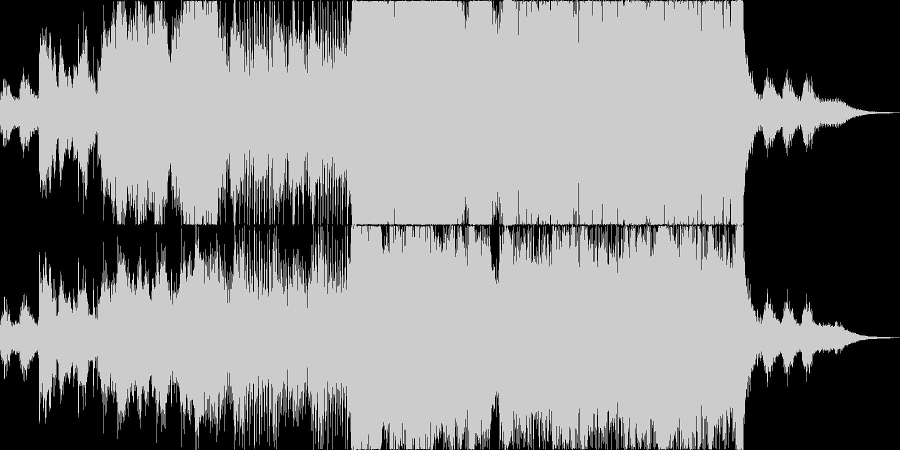 和楽器をフィーチャーしたダークな楽曲の未再生の波形