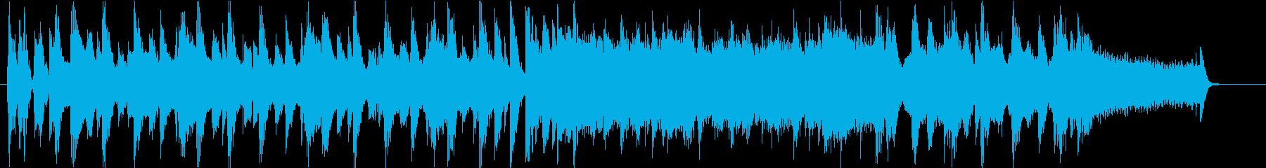ビッグバンド風深夜のバラエティOPの再生済みの波形
