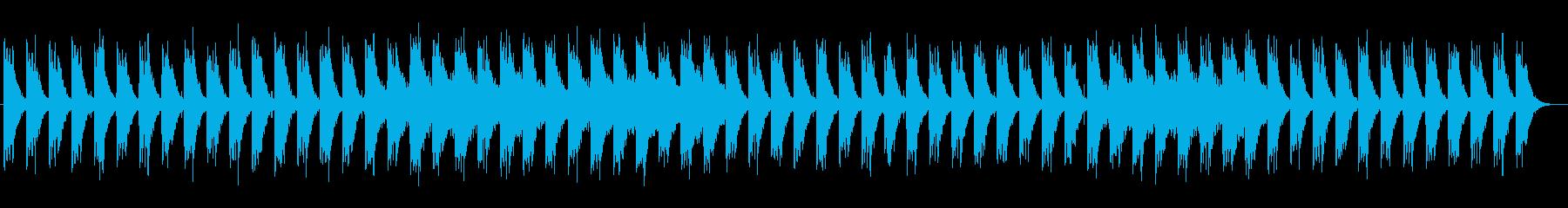 空気感のあるシンセサイザーのループ曲の再生済みの波形