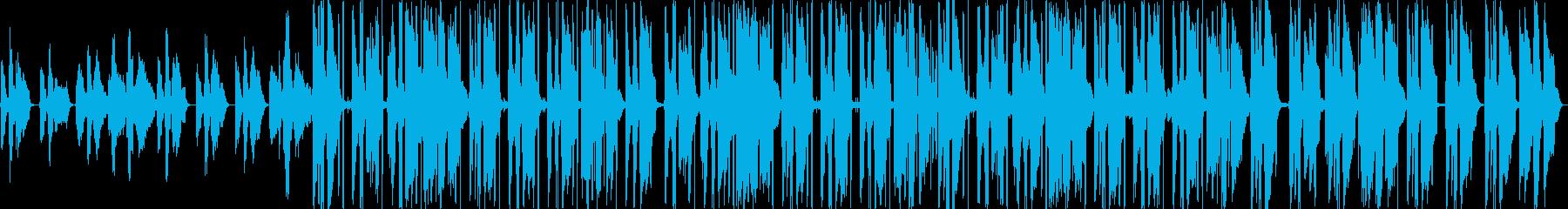 ピアノがおしゃれなHiphopBeatの再生済みの波形