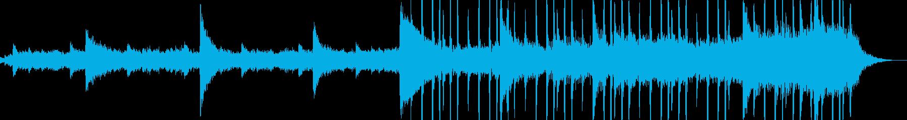 優しい旋律のピアノ、ブレイクビーツの再生済みの波形