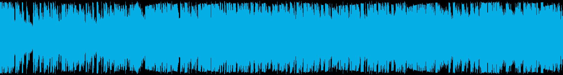 三味線メタル、力強い、疾走感、声入ループの再生済みの波形
