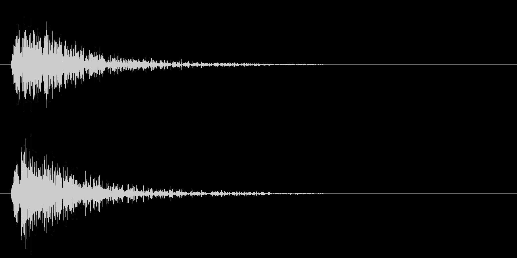 プピャウピャウピャウ(衝撃波)の未再生の波形