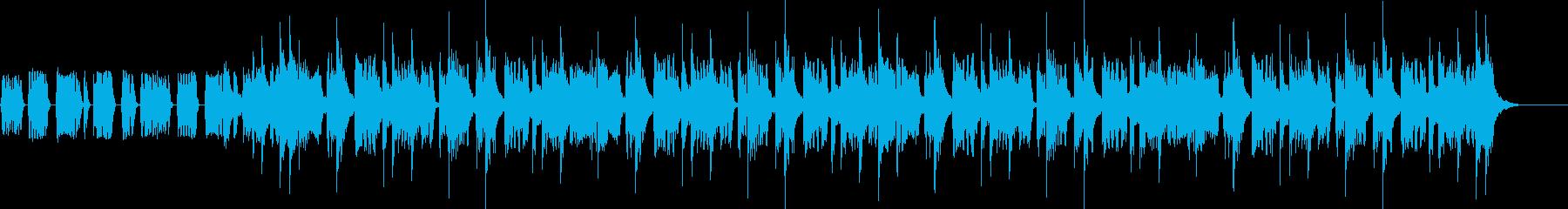 ワクワクするファンク系入場ジングルの再生済みの波形