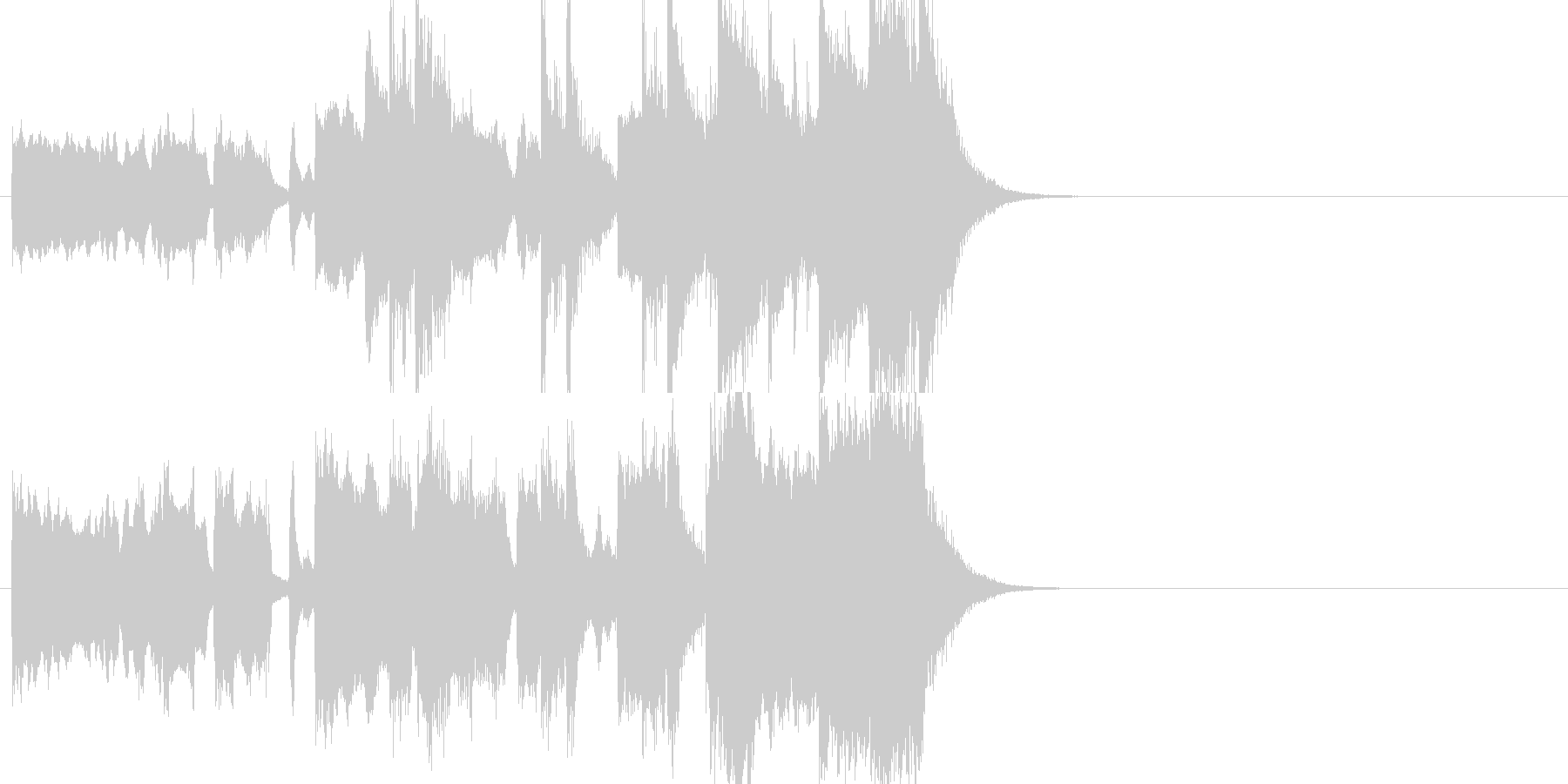 ファンファーレジングルの未再生の波形