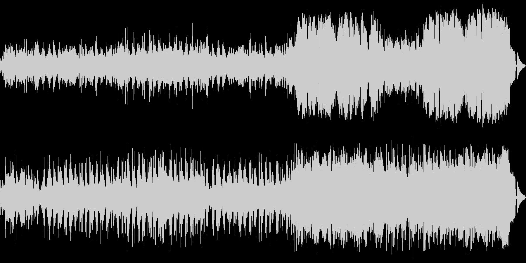 ゆったりとしたメロディアスなピアノワルツの未再生の波形