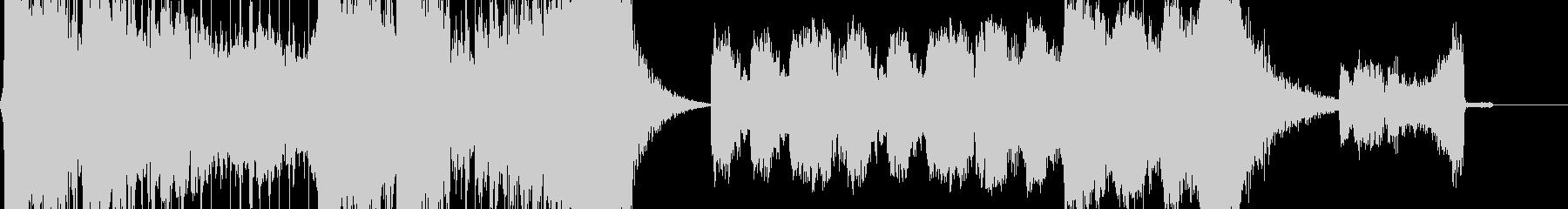 巨大なドラムンベースのパーカッショ...の未再生の波形