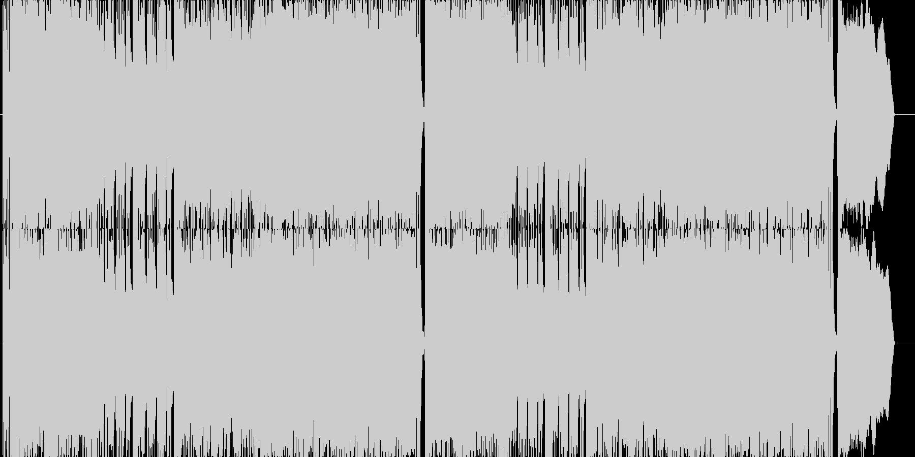 ゲーム用戦闘曲ハードロック3の未再生の波形