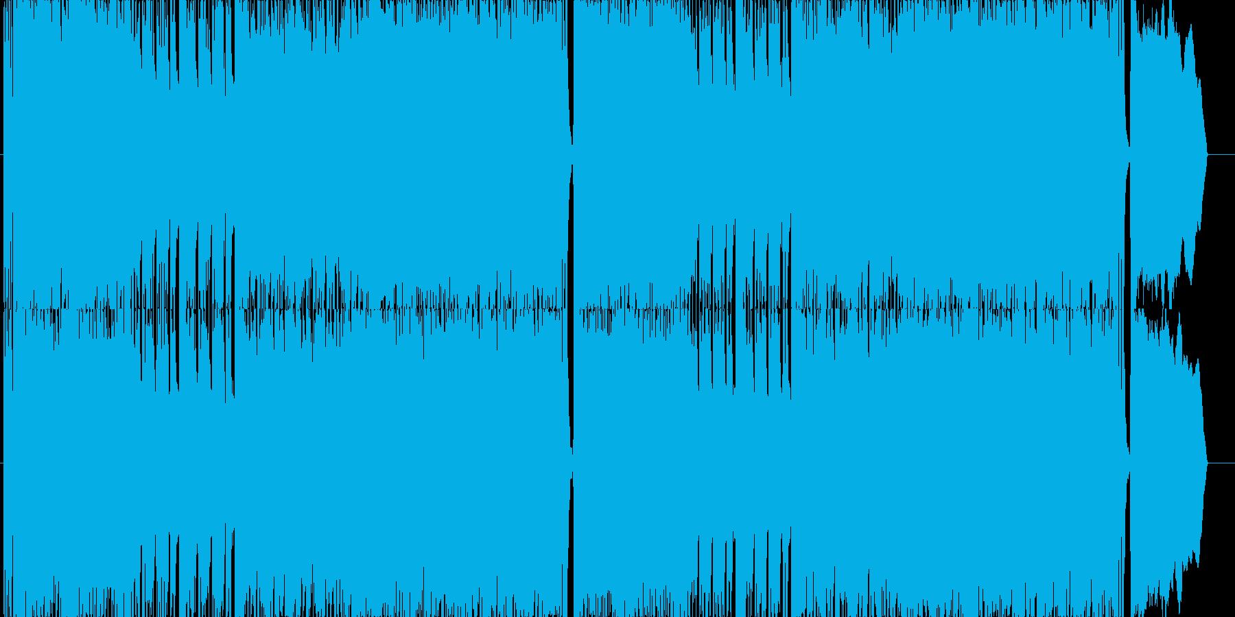 ゲーム用戦闘曲ハードロック3の再生済みの波形