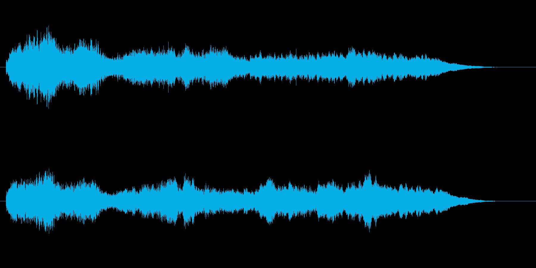 哀しいオーケストラジングルの再生済みの波形