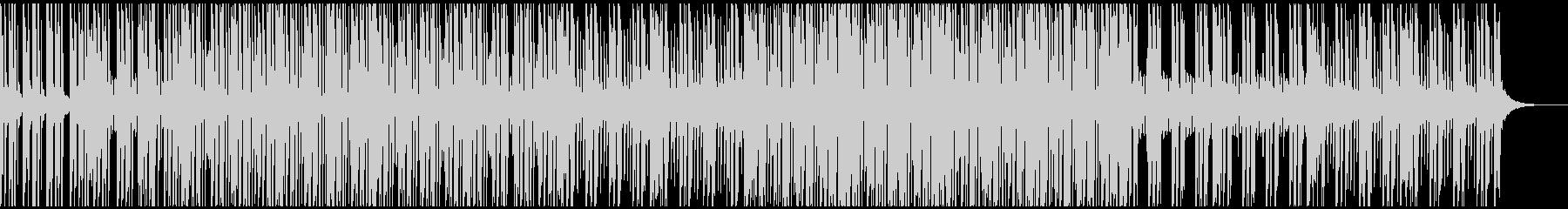 お洒落で楽し気な雰囲気のBGMの未再生の波形