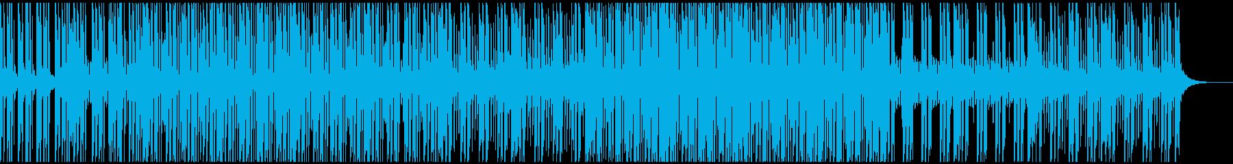お洒落で楽し気な雰囲気のBGMの再生済みの波形