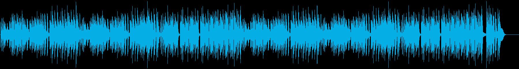 猫のかわいさを表現したピアノゆるポップの再生済みの波形