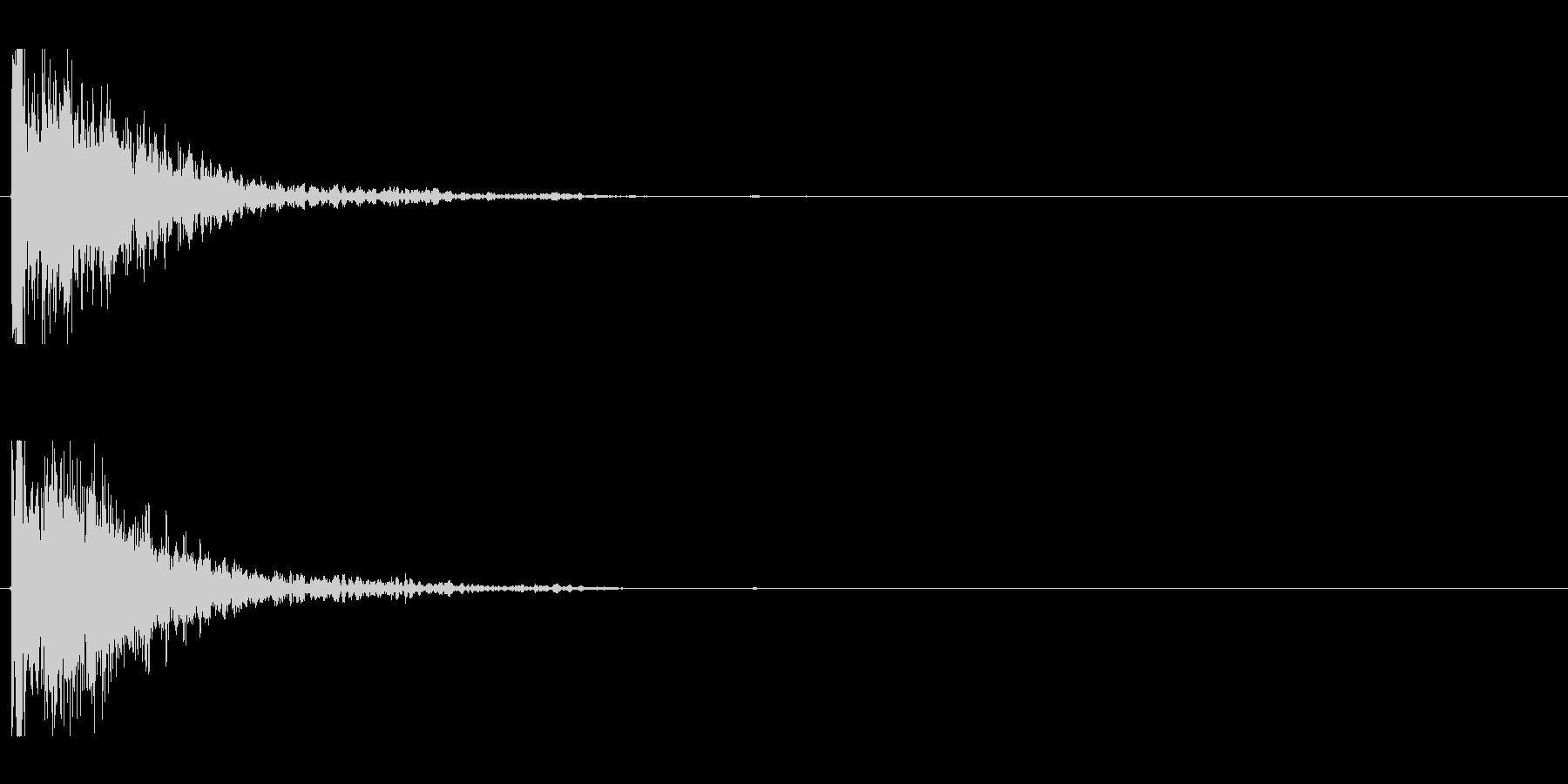 爆発;破片なし11の未再生の波形