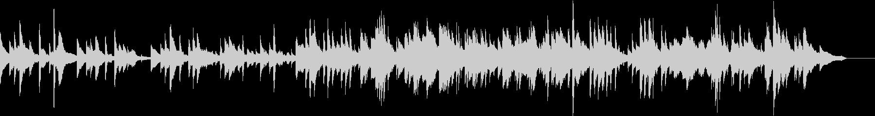 生演奏 悲しげなメロディのピアノの未再生の波形