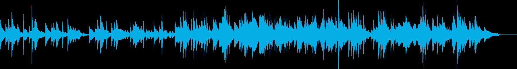 生演奏 悲しげなメロディのピアノの再生済みの波形
