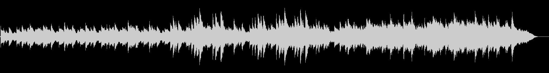 綺麗な 静か アンビエント ピアノ の未再生の波形