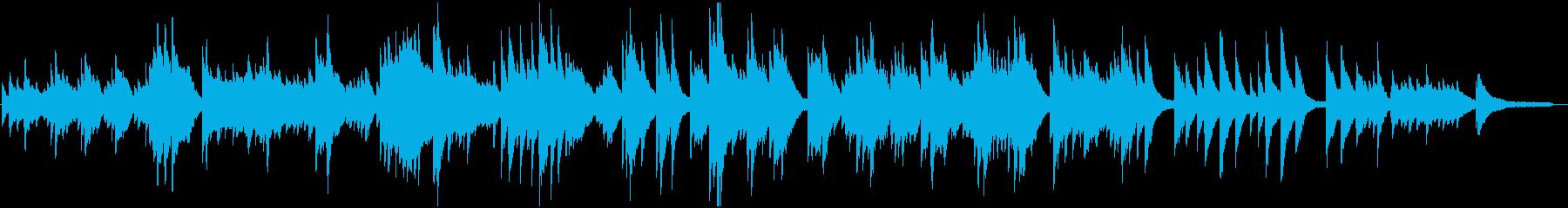 さみしさのある切ないピアノ曲の再生済みの波形