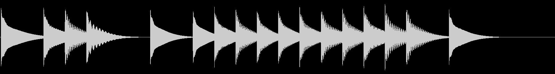 かわいいポップな場面転換の未再生の波形