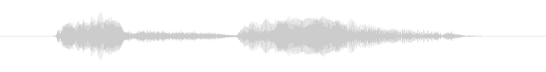 マンチキン、女性の声:はいの未再生の波形