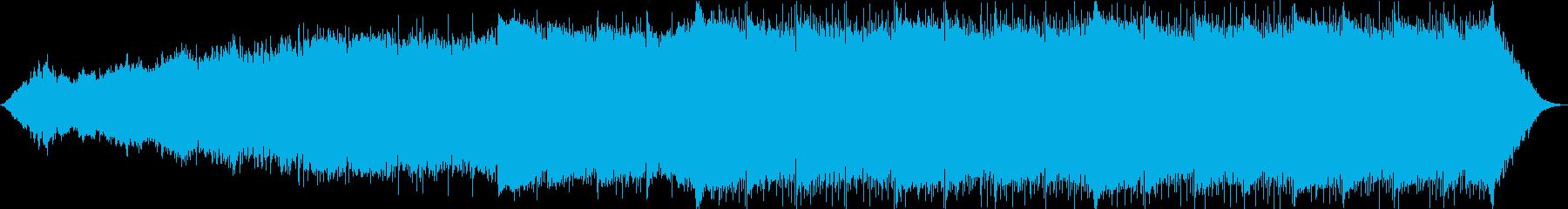 実験的な抽象的なトラックの再生済みの波形